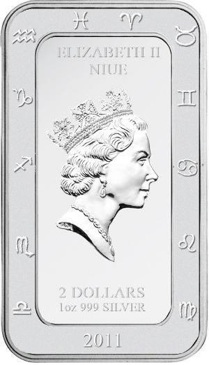 банковские монеты со знаком зодиака